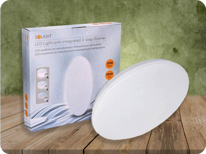 LED stropní svítidlo, 32W (2240lm), 3-stupňové stmívání, 4000K (Barva světla Neutrální bílá 4000K)