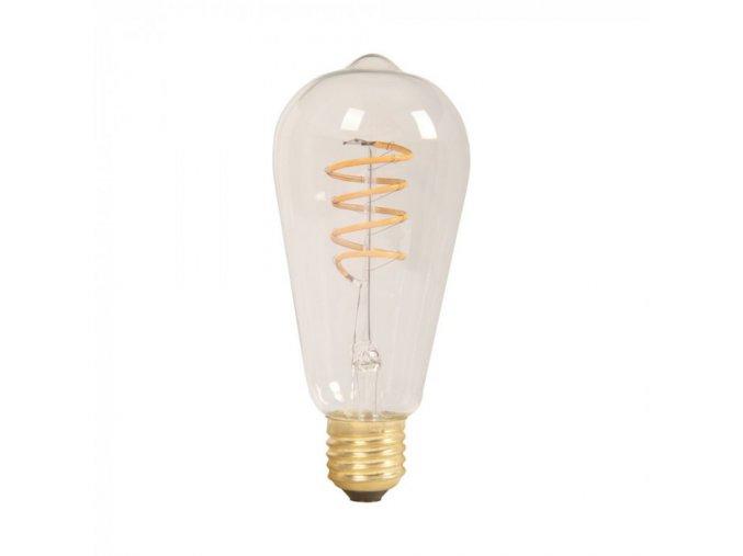 E 27 LED FILAMENT SPIRALA 4W,ST60 (Barva světla Teplá bílá)