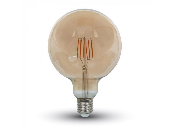 E 27 LED FILAMENT ŽÁROVKA 6W, G125 (Barva světla Teplá bílá)