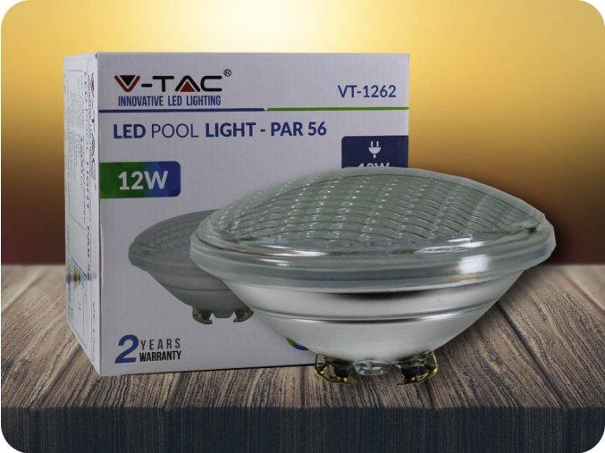 LED bazénová žárovka, 12W (1200lm), PAR56, 12V, IP68 (Barva světla Teplá bílá)
