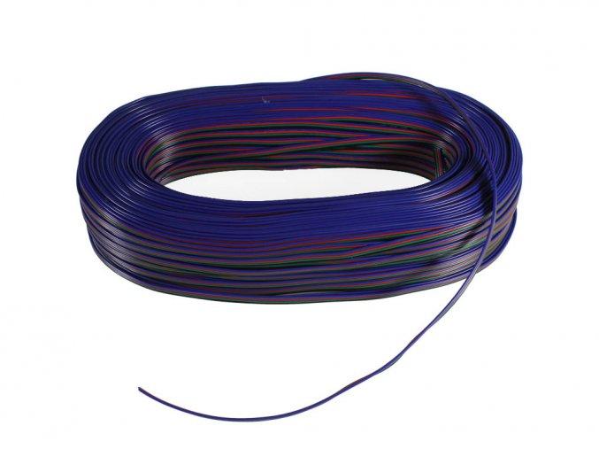5190 1 kabel rgb 4 zilovy 4x0 35mm 1m