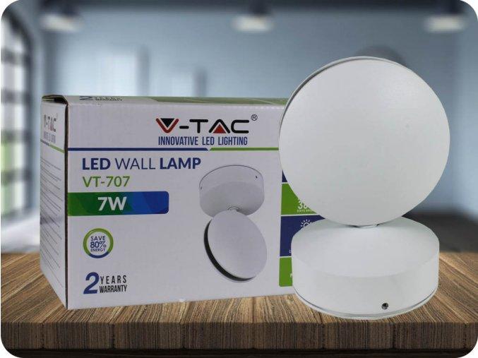 LED NÁSTĚNNÉ SVÍTIDLO 7W (770 LM), IP65, BÍLÉ (Barva světla Neutrální bílá)