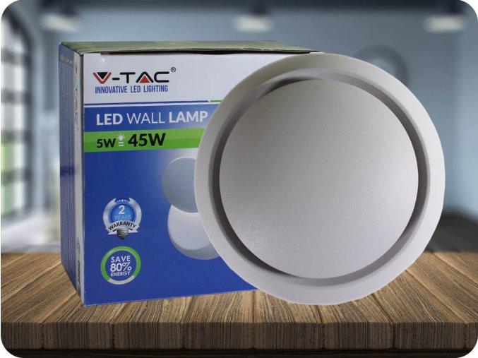 LED NÁSTĚNNÉ SVÍTIDLO 5W (560 LM), IP20, BÍLÉ (Barva světla Neutrální bílá)