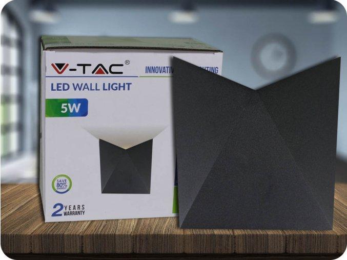 LED SVÍTIDLO 5W (550 LM), IP65, ČERNÉ (Barva světla Neutrální bílá)