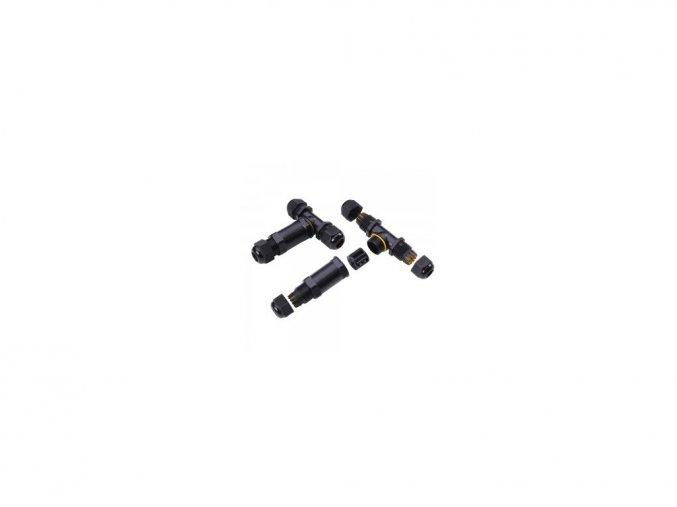 5496 1 vodeodolne pouzdro na spojovani kontaktu cerne ip68