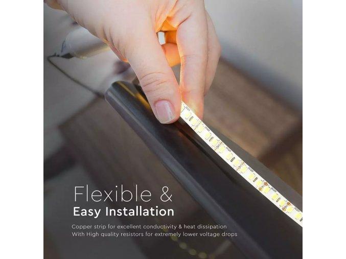 LED PÁS SMD 5730, 18 W / M, 120 LED / M, 3000lm / M, HIGH CRI (Barva světla Neutrální bílá)