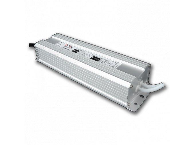 596 kovovy napajeci adapter pro led pasky ip65 120w 10a