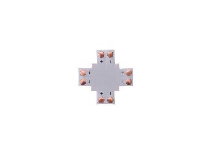 611 1 krizovy konektor na led pasy 10mm 2pin