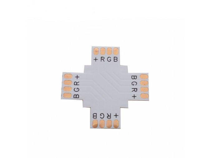 674 1 krizovy konektor na led pasy rgb 10mm