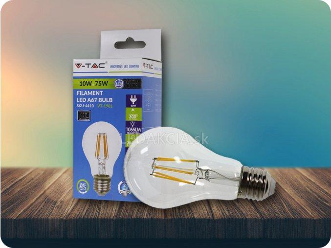 E27 Led Retro Filament Žárovka 10W (Barva světla Studená bílá)