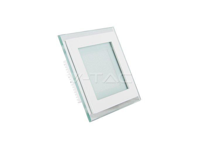 LED PANEL 6W, Skleněné (Barva světla Teplá bílá)