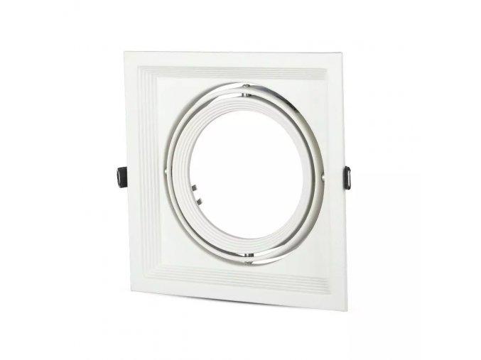 Rámeček Na 1 Žárovku Ar111 / Gx53, Čtvercový, Bílá Barva