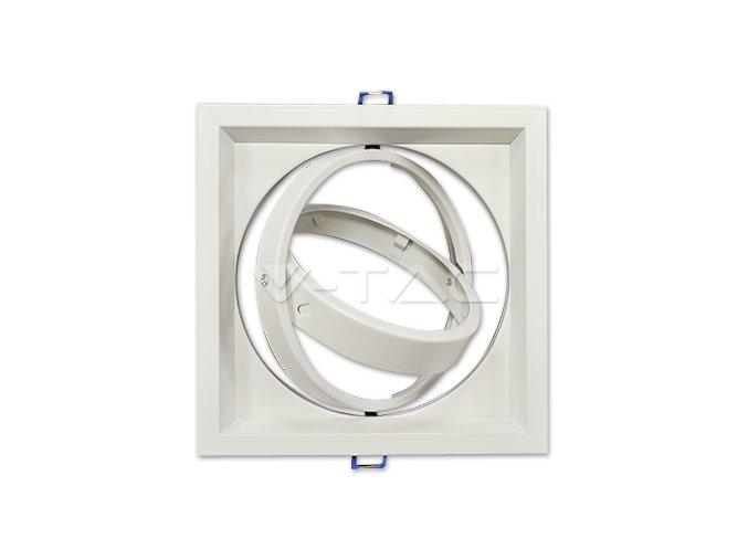 Rámeček Na 1 Žárovku Ar111 / Gx53, Čtvercový, Bílá Barva  + Zdarma záruka okamžité výměny!