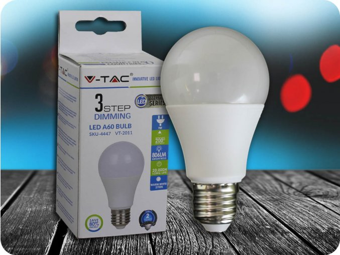 E27 Led Žárovka 9W, 3-Stupňové Stmívání (Barva světla Studená bílá)