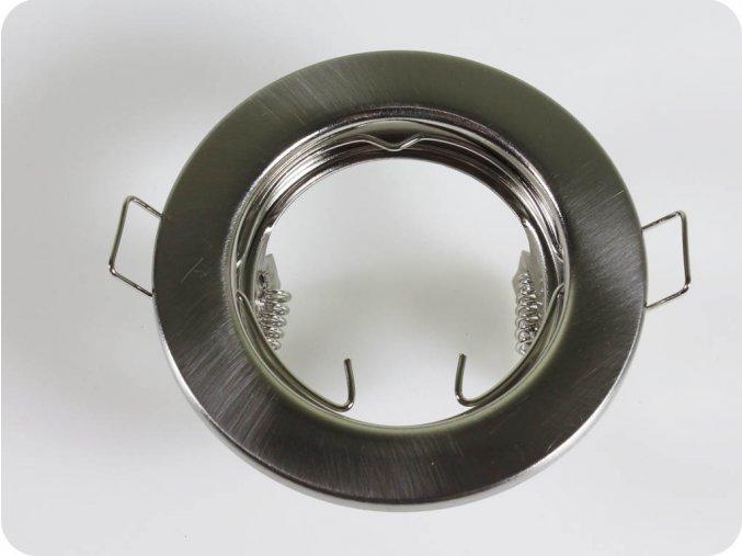 Rámečky / 2Ks V Balení / Na Bodů Žárovku Gu10 / Gu5.3, Kruhový, Fixní (Farba rámiku Chrom)