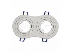 Dvojitý Rámeček Na Bodové Žárovky Gu10, Rotační (Farba rámiku Broušený hliník)