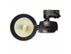 Kolejnicové LED svítilna COB 45W (2300lm) - Premium Series, černá barva, (Barva světla Neutrální bílá)