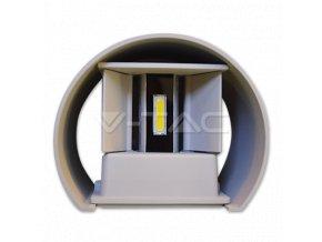 Nástěnné svítidlo 6W, ŠEDÁ, kruh, IP65 (Barva světla Neutrální bílá)