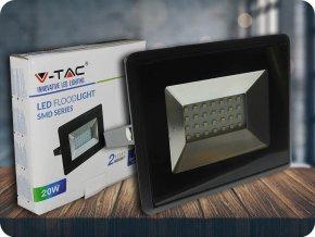 LED REFLEKTOR 20W (1700lm), ČERNÝ, IP65 (Barva světla Studená bílá)