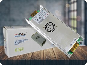 16003 4 kovovy napajeci adapter pro led pasky 350w 30a ip20