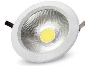COB LED ZAPUŠTĚNÉ SVÍTIDLO 30W, vysocesvítivé, A ++ (Barva světla Studená bílá)