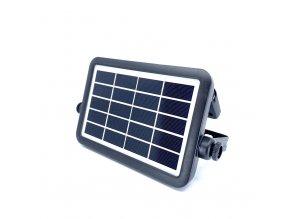 LED solární reflektor 5W (500 lm), černý, IP65, 4000K  + Zdarma záruka okamžité výměny!
