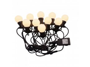 LED Řetězové svítidlo 10x 0,5W LED žárovky, 5m, 24V, IP44
