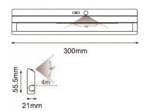 LED svítilna 1,5W (135LM) se senzorem, Samsung chip, 4000K  + Zdarma záruka okamžité výměny !