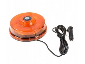 LED střešní výstražné světlo - maják s magnetem, 12-24V, oranžové