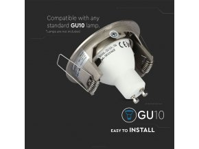 Rámeček na bodovou žárovku GU10, kulatý, rotační, Hliník