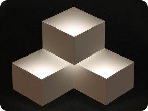Nástěnné svítidlo, trojité, 9W (990lm), bílé, 4000K (Barva světla Neutrální bílá)