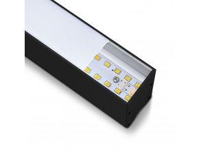 LED lineární závěsné svítidlo 40W, černé, SAMSUNG chip, 4000K