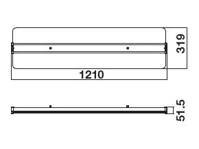 16733 8 led pruhledny panel 121x32 cm s napajecim zdrojem 40w 3200lm 4000k