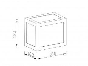 Nástěnné LED svítidlo 12W (750lm), bílé, IP65, 3000K (Barva světla Studená bílá)