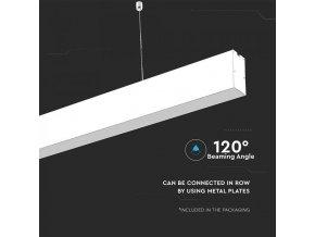 LED lineární závěsné svítidlo 40W, bílé, SAMSUNG chip, 4000K