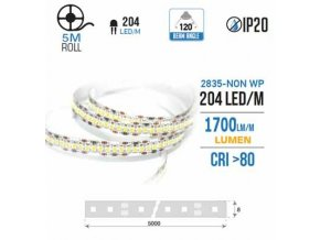 LED pás do interiéru 204 LED / SMD 2835, IP20