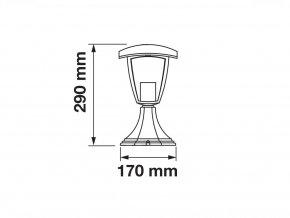 17141 1 zahradni nizke svitidlo 1xe27 sklo hlinik ip65