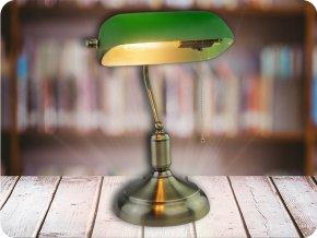 LED stolní lampa E27, max 60W, zelená