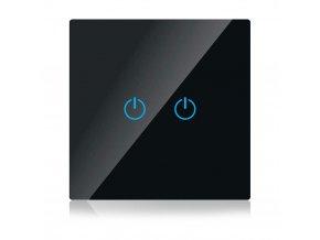 17423 dotykovy 2 tlacitkovy inteligentni vypinac wifi kompatibilni s amazon alexa google home