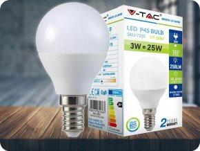 E14 Led Žárovka 3W (250lm), P45 (Barva světla Studená bílá 6400K)