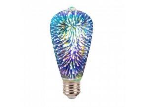 17480 e27 led 3d filament zarovka 3w 25lm st64 3000k