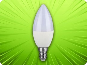 E14 LED žárovka 5.5W (470Lm), C37 (Barva světla Neutrální bílá 4000K)