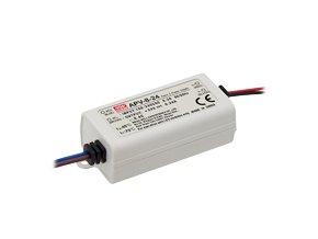 1802 mean well napajeci adapter pro led aplikacie 8w 0 67a