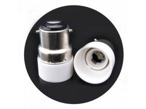 18098 1 vt 798 b22 e14 lamp convertor