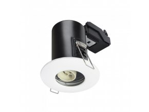 18209 1 vt 702 gu10 shower fire rated downlight fitting ip65 white