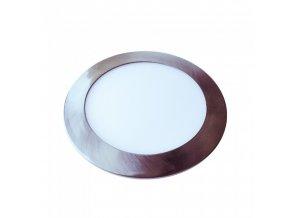 18563 vt 1807sn 18w led slim panel light satin nickel colorcode 3000k round