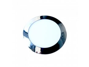 18569 2 vt 1207ch 12w led slim panel light chrome colorcode 4000k round