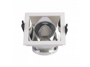 18620 vt 875 gu10 fitting square white chrome