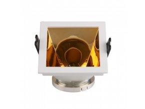 18626 vt 875 gu10 fitting square white gold