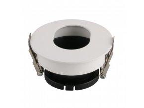 18641 vt 874 gu10 fitting round white black